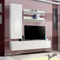 "Meuble TV Mural Design ""Fly I"" 170cm Blanc"