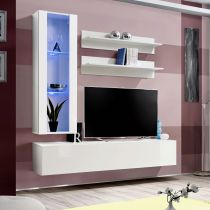 "Meuble TV Mural Design ""Fly II"" 170cm Blanc"