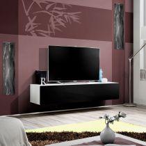 "Meuble TV Mural Design ""Fly I"" 160cm Noir & Blanc"