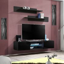 "Meuble TV Mural Design ""Fly III"" 160cm Noir"