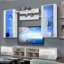 "Meuble TV Mural ""Invento VII Twin"" 240cm Blanc"