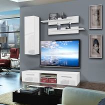 "Meuble TV Mural ""Cover I"" 180cm Blanc"