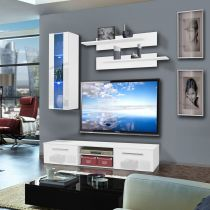 "Meuble TV Mural ""Cover II"" 180cm Blanc"