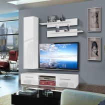 "Meuble TV Mural ""Cover IV"" 180cm Blanc"