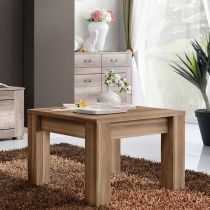 "Table d'Appoint Design ""Qube"" 67cm Brun"