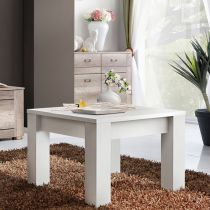 "Table d'Appoint Design ""Qube"" 67cm Blanc"