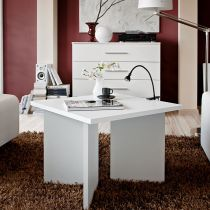 """Table d'Appoint Design """"Piko"""" 67cm Blanc"""