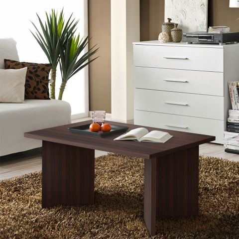 Wengé Nano Rectangulaire Basse 90cm Table ED2YW9IH