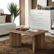 "Table Basse Rectangulaire ""Nano"" 90cm Prunier"