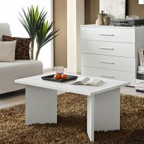 "Table Basse Rectangulaire ""Nano"" 90cm Blanc"
