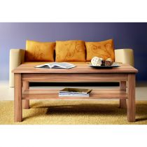 "Table Basse Rectangulaire ""Uni"" 110cm Brun"