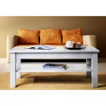 "Table Basse Rectangulaire ""Uni"" 110cm Blanc"