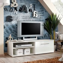 "Meuble TV Design ""Bono I"" 120cm Blanc"
