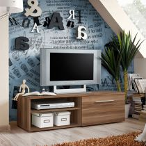 "Meuble TV Design ""Bono I"" 120cm Prunier"