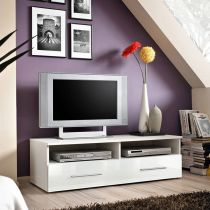 "Meuble TV Design ""Bern"" 120cm Blanc"