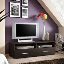 "Meuble TV Design ""Bern"" 120cm Wengé"