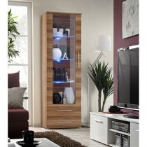 "Vitrine LED Design ""Neo"" 190cm Prunier"