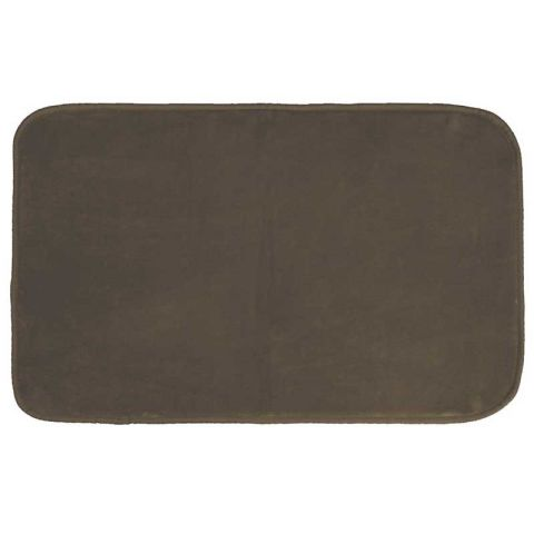 "Tapis Velours Rectangle ""Louna"" 50x80cm Chocolat"