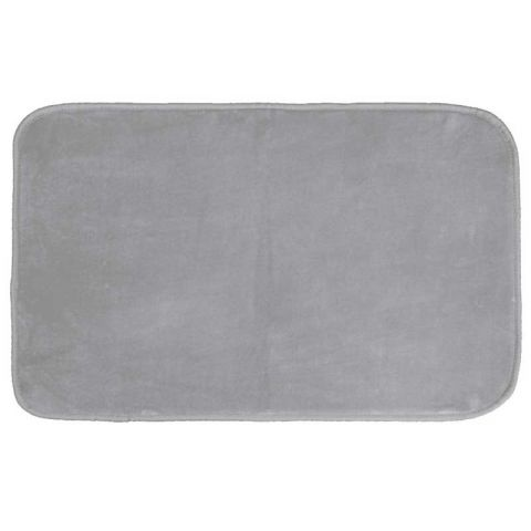 "Tapis Velours Rectangle ""Louna"" 50x80cm Gris"