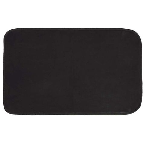 "Tapis Velours Rectangle ""Louna"" 50x80cm Noir"