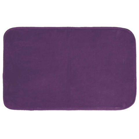 "Tapis Velours Rectangle ""Louna"" 50x80cm Prune"