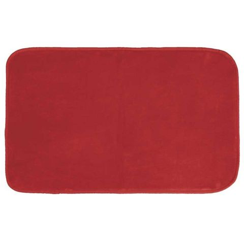 "Tapis Velours Rectangle ""Louna"" 50x80cm Rouge"