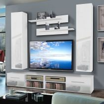 "Meuble TV Mural ""Invento IV Twin"" 240cm Blanc"