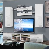 "Meuble TV Mural ""Invento I Twin"" 240cm Blanc"