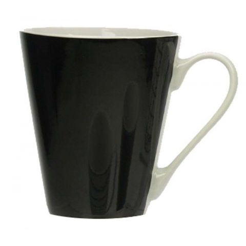 "Mug Conique ""Noir & Blanc"" en Porcelaine"