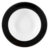"Lot de 6 Assiettes Creuses ""Filet"" 21cm Noir"