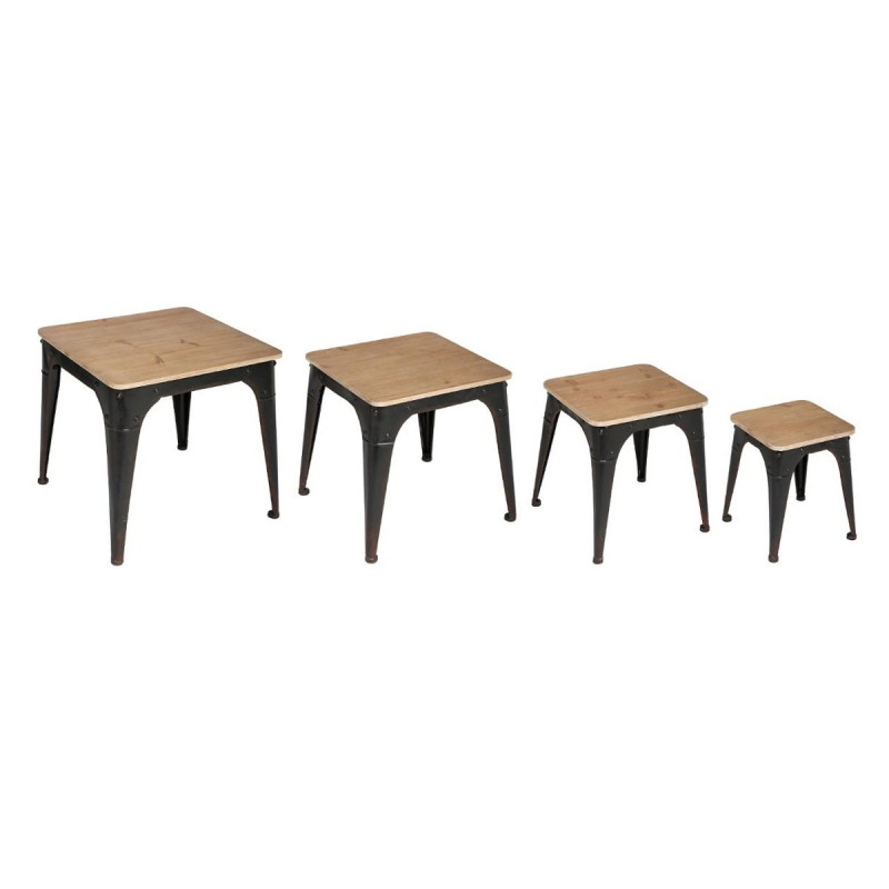 set de 4 tables d 39 appoint torof noir. Black Bedroom Furniture Sets. Home Design Ideas