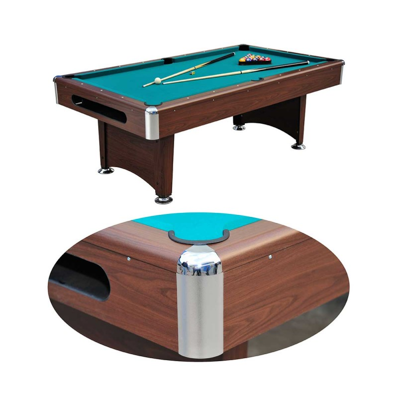 table de billard am ricain 220cm marron. Black Bedroom Furniture Sets. Home Design Ideas