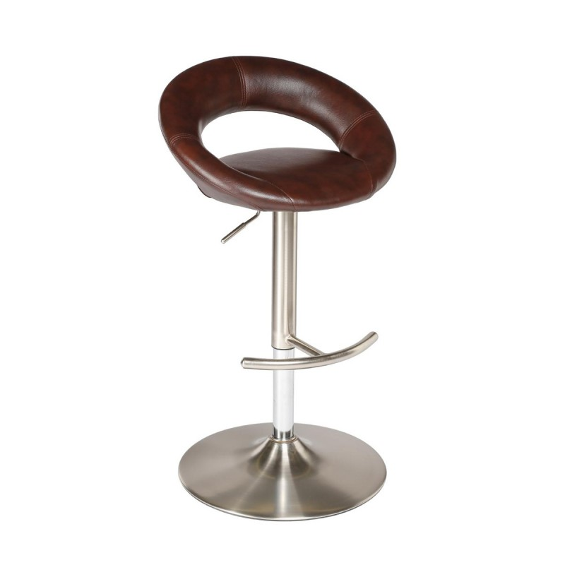 tabouret de bar sasha luxe marron