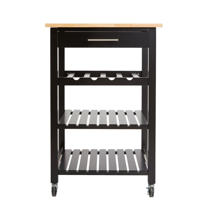 desserte de cuisine 1 tiroir claude 87cm noir. Black Bedroom Furniture Sets. Home Design Ideas