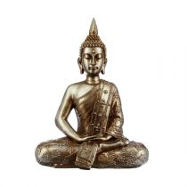Statue Bouddha Assis 43cm Or