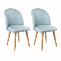 "Lot de 2 Chaises Design ""Neti"" 84cm Bleu"
