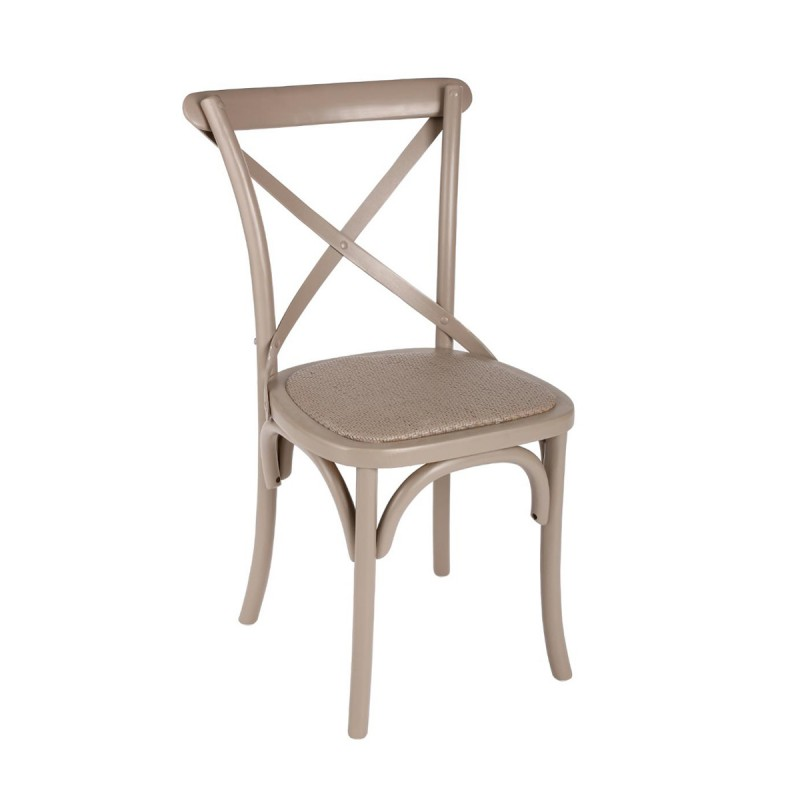 Chaise de bistrot lusel taupe for Chaise bistrot