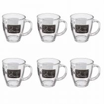 "Lot de 6 Mugs ""Vache"" 38cl Transparent"