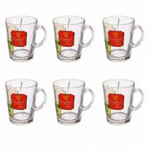 "Lot de 6 Mugs ""Thé"" 26cl Transparent"