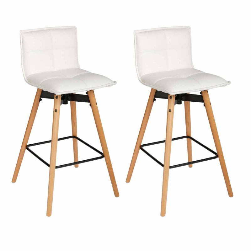 lot de 2 tabourets de bar atiel 96cm blanc. Black Bedroom Furniture Sets. Home Design Ideas