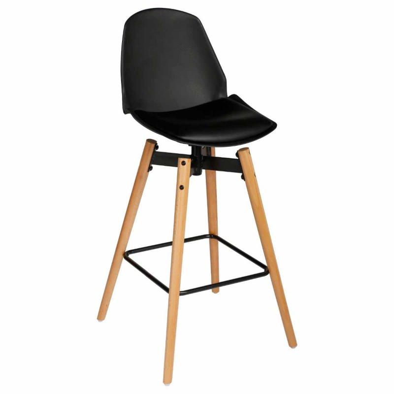 lot de 2 tabouret de bar wilio 104cm noir. Black Bedroom Furniture Sets. Home Design Ideas