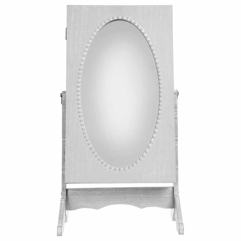 armoire bijoux miroir 32cm gris. Black Bedroom Furniture Sets. Home Design Ideas
