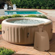 Spa Gonflable 6 Places Rond 1098L Beige