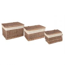 "Lot de 3 Malles ""Chic"" Marron"