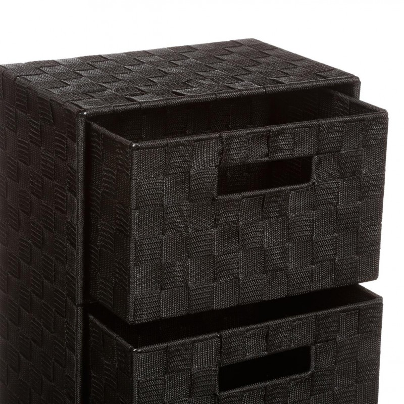 meuble de rangement 4 tiroirs 74cm noir. Black Bedroom Furniture Sets. Home Design Ideas