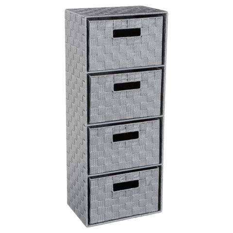 meuble de rangement 4 tiroirs 74cm gris clair. Black Bedroom Furniture Sets. Home Design Ideas