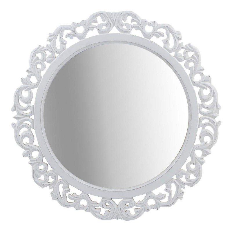 miroir rond moucharabieh 55cm blanc. Black Bedroom Furniture Sets. Home Design Ideas