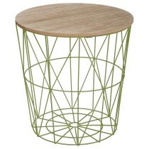 "Table d'Appoint Design ""Kumi"" 41cm Vert"