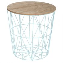 "Table d'Appoint Design ""Kumi"" 41cm Bleu"