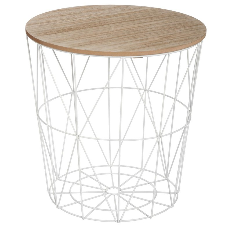 Table d 39 appoint design kumi 41cm blanc for Table de chevet noir pas cher